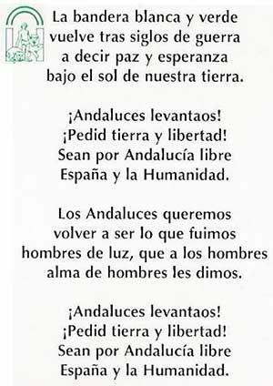 Resultado de imagen de  letra himno andaluza